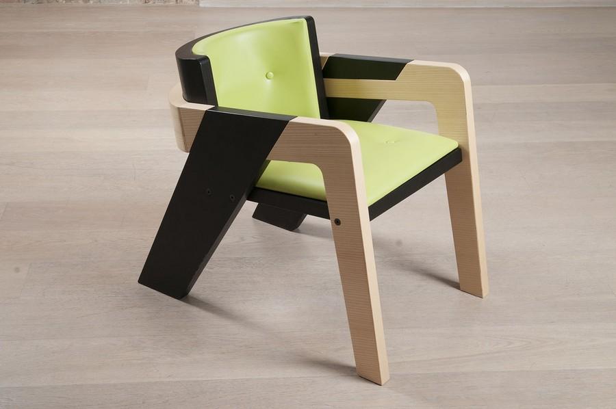 crno zelena stolica