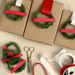 Praznični pokloni- sjajni papir zamijenite običnim smeđim