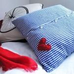 Napravite dekorativnu jastučnicu od stare košulje