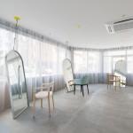 Minimalističi frizerski salon u Osaki