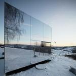 Nevidljiva montažna kuća od ogledala