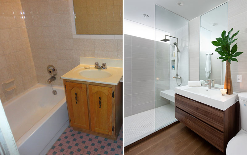 Preure enje malog kupatila dom info Cheap bathroom remodel before and after