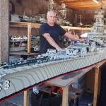 Tri godine pravio ratni brod od lego kockica