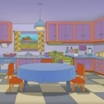 Preuredili kuhinju da izgleda kao iz Simpsonovih