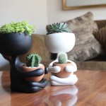 Simpatične keramičko-glinene teglice za cvijeće