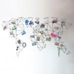 Apstraktna mapa svijeta kao dekoracija