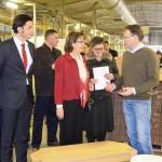 """Posjeta ambasadorke SAD-a fabrici namještaja """"Standard"""" a.d. iz Prnjavora"""