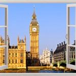 3D zidne naljepnice kao imitacija prozora