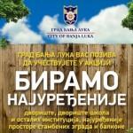 """Banjaluka: Prijave za akciju """"Biramo najuređenije"""" do 20. maja"""