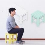 Koncept optičke iluzije: Namještaj kao zidni ukras