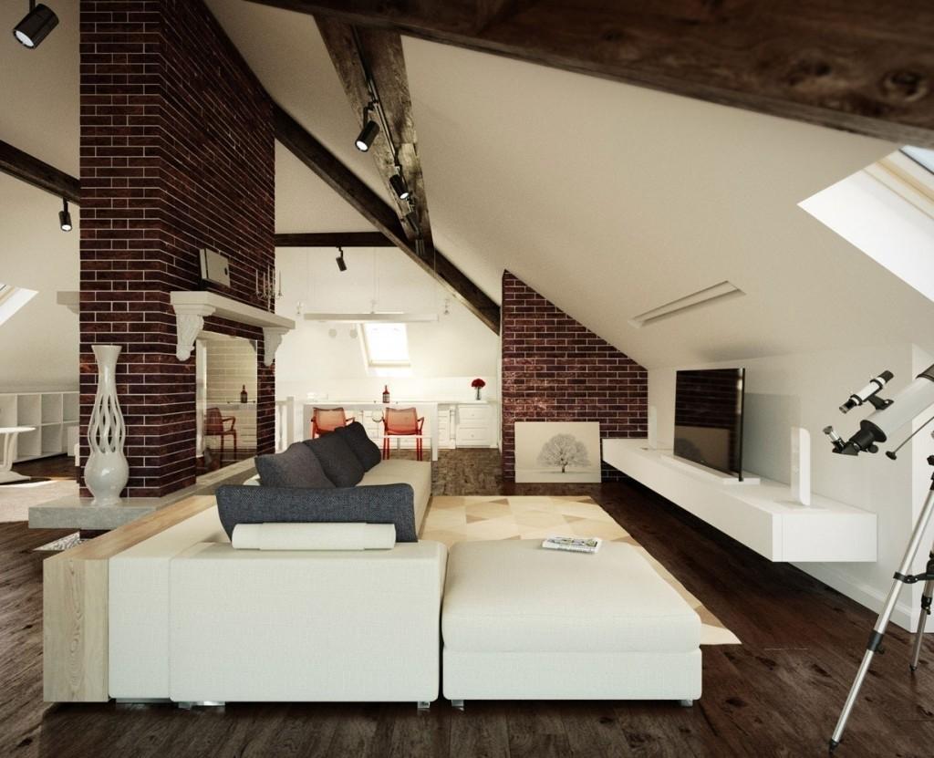 Modern-Attic-Living-Room