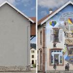 Francuski umjetnik stare fasade pretvara u scene pune života