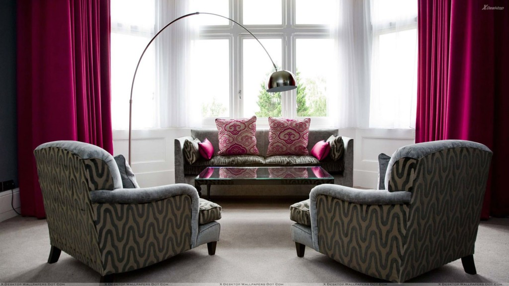grey-designing-sofa-set-and-pink-curtains-in-room