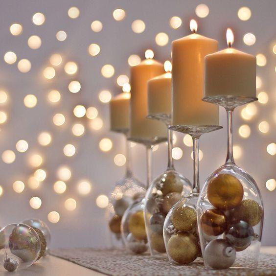 novogodisnji dekor stola