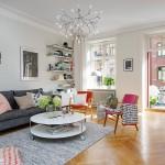 Skandinavski stan sa detaljima u boji