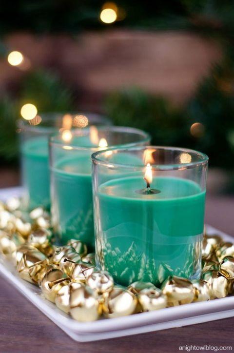 dekoracija za sto bozic svijece