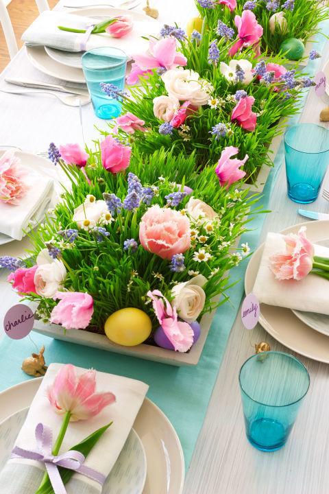 dekoracija za sto uskrs cvijece