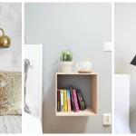 Ideje: Mini noćni stolići za male spavaće sobe