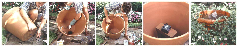 kako napraviti malu fontanu za dvoriste