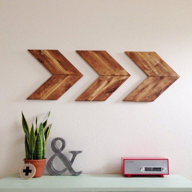 drveni ukrasi za zid strelice
