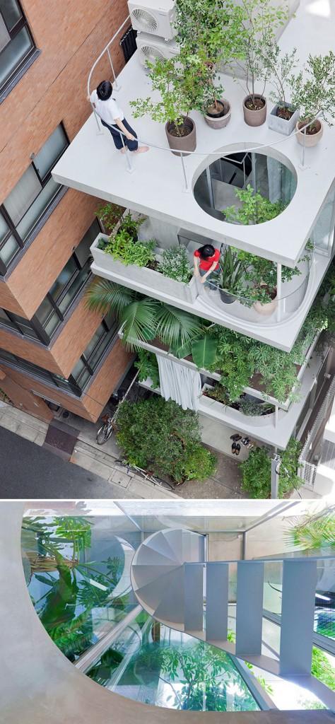 kuca s integrisanim vrtovima