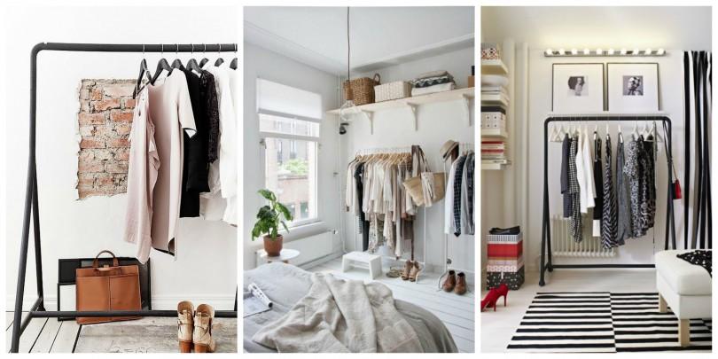 stalak za odjecu spavaca soba