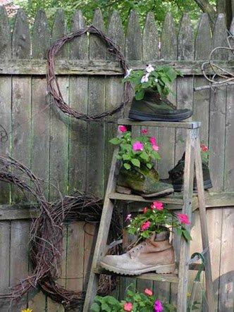 stare ljestve ideja vrt