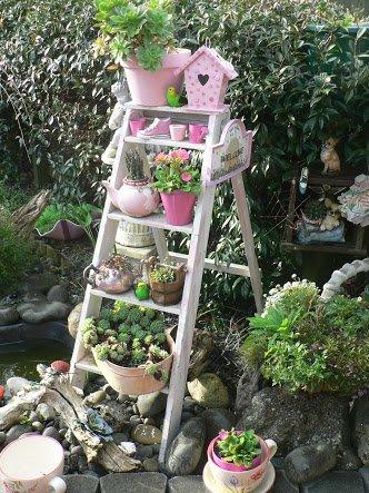 stare ljestve ideje za vrt
