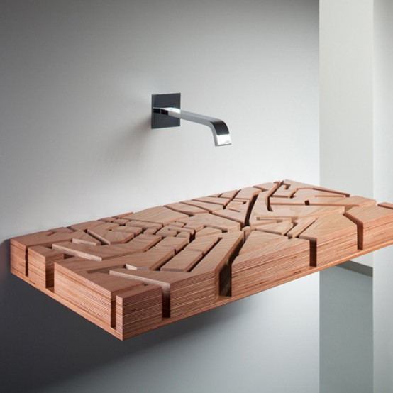 umivaonik od drveta