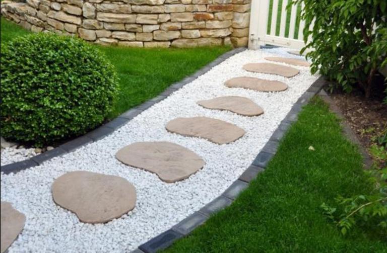 kamena staza u vrtu