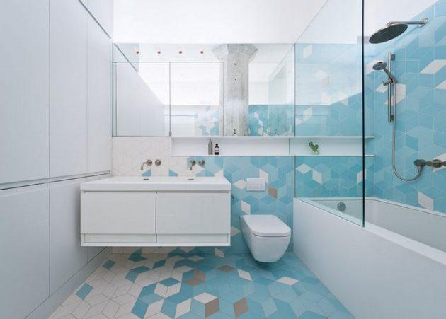 kupatilo plavo bijelo