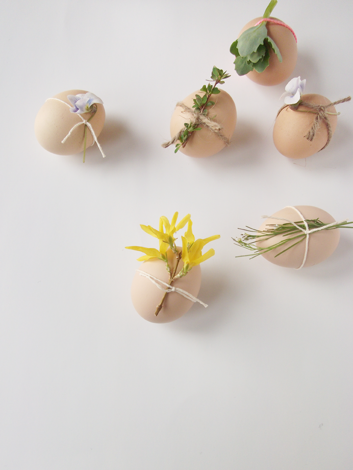 ukrasavanje jaja cvijecem