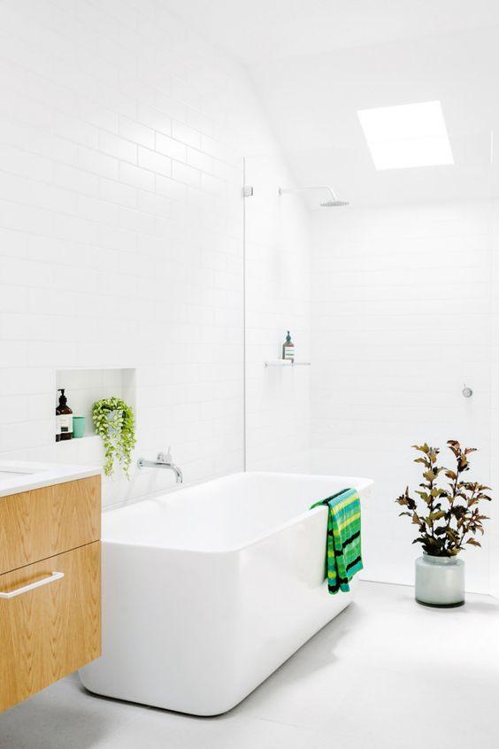 zelene biljke u kupatilu