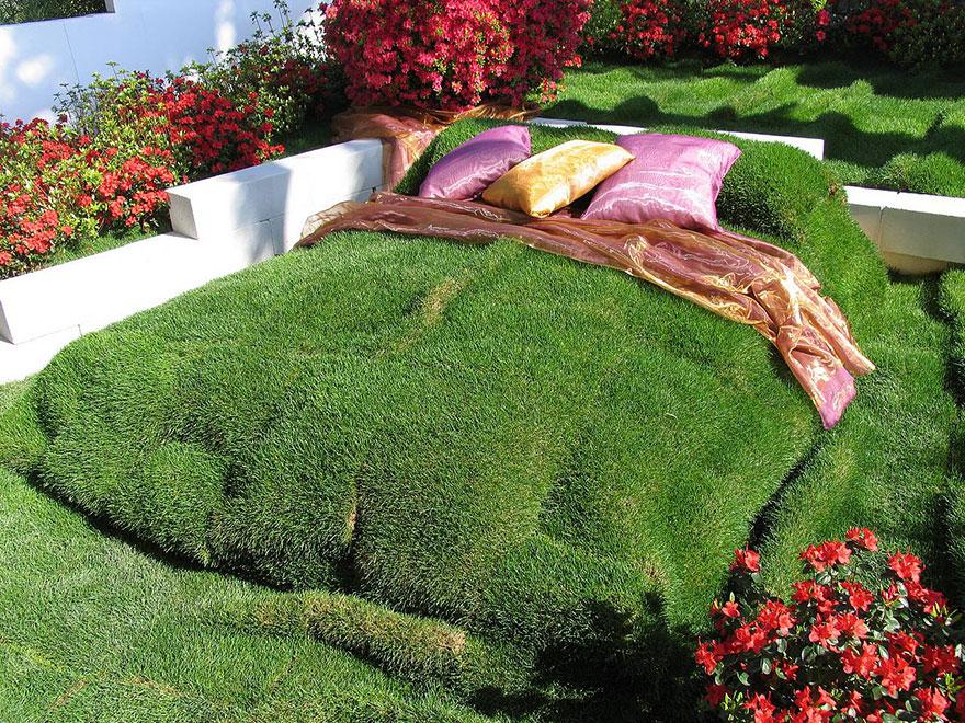 zeleni krevet