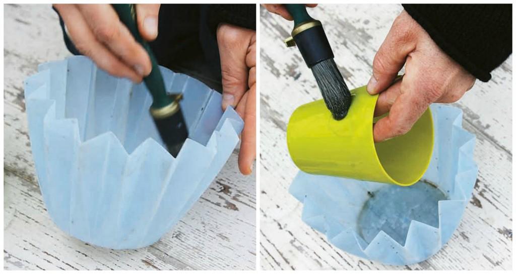kako napraviti betonske saksije