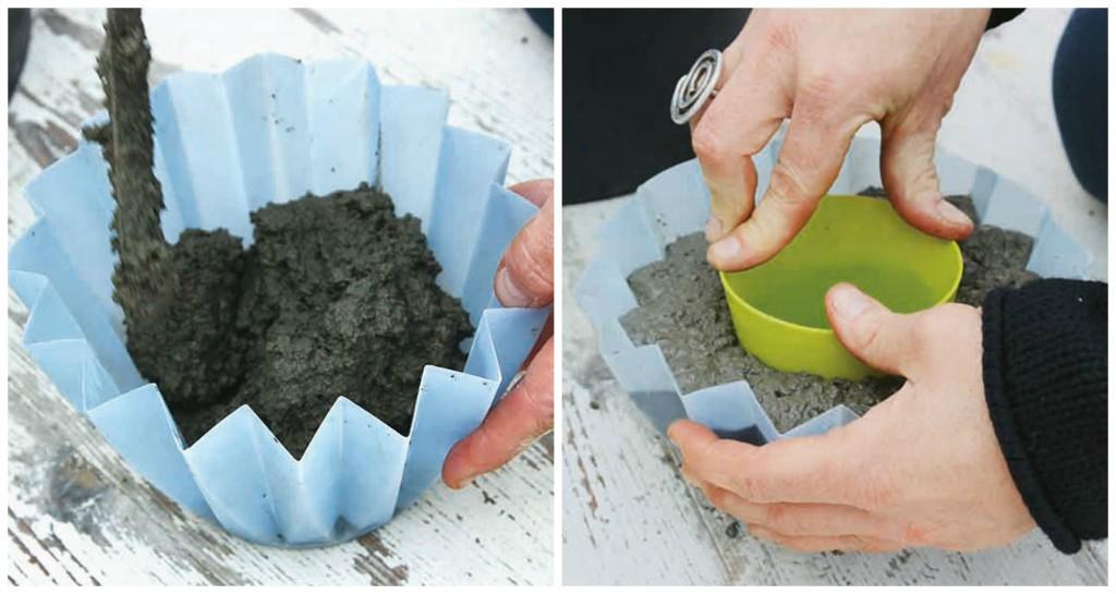 kako napraviti saksije od betona