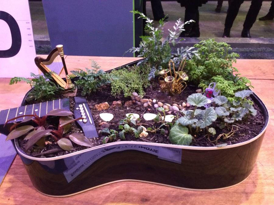 saksija za cvijece gitara
