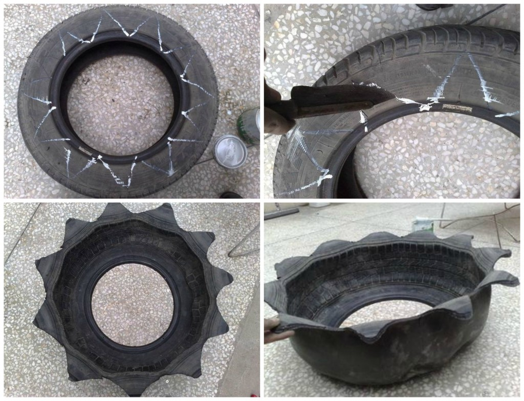 saksije od gume kako napraviti