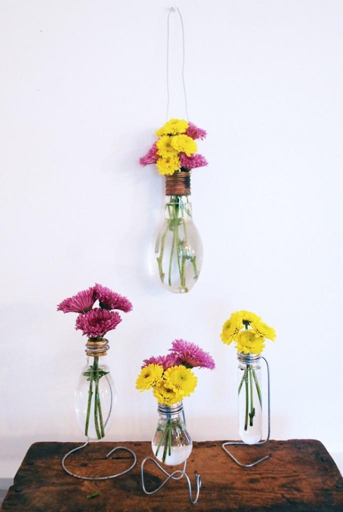 vaze od starih sijalica