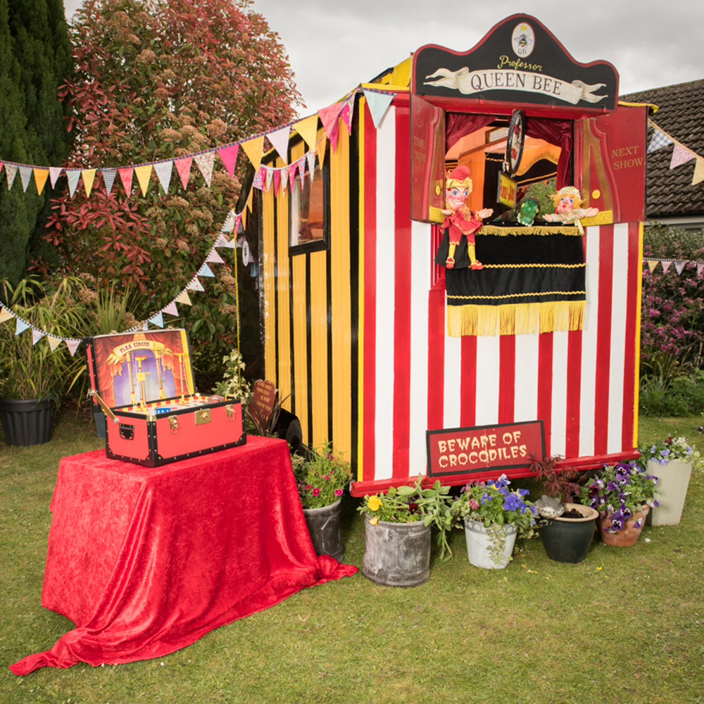 The Punch and Judy shed owned by Professor Queen Bee from Readin