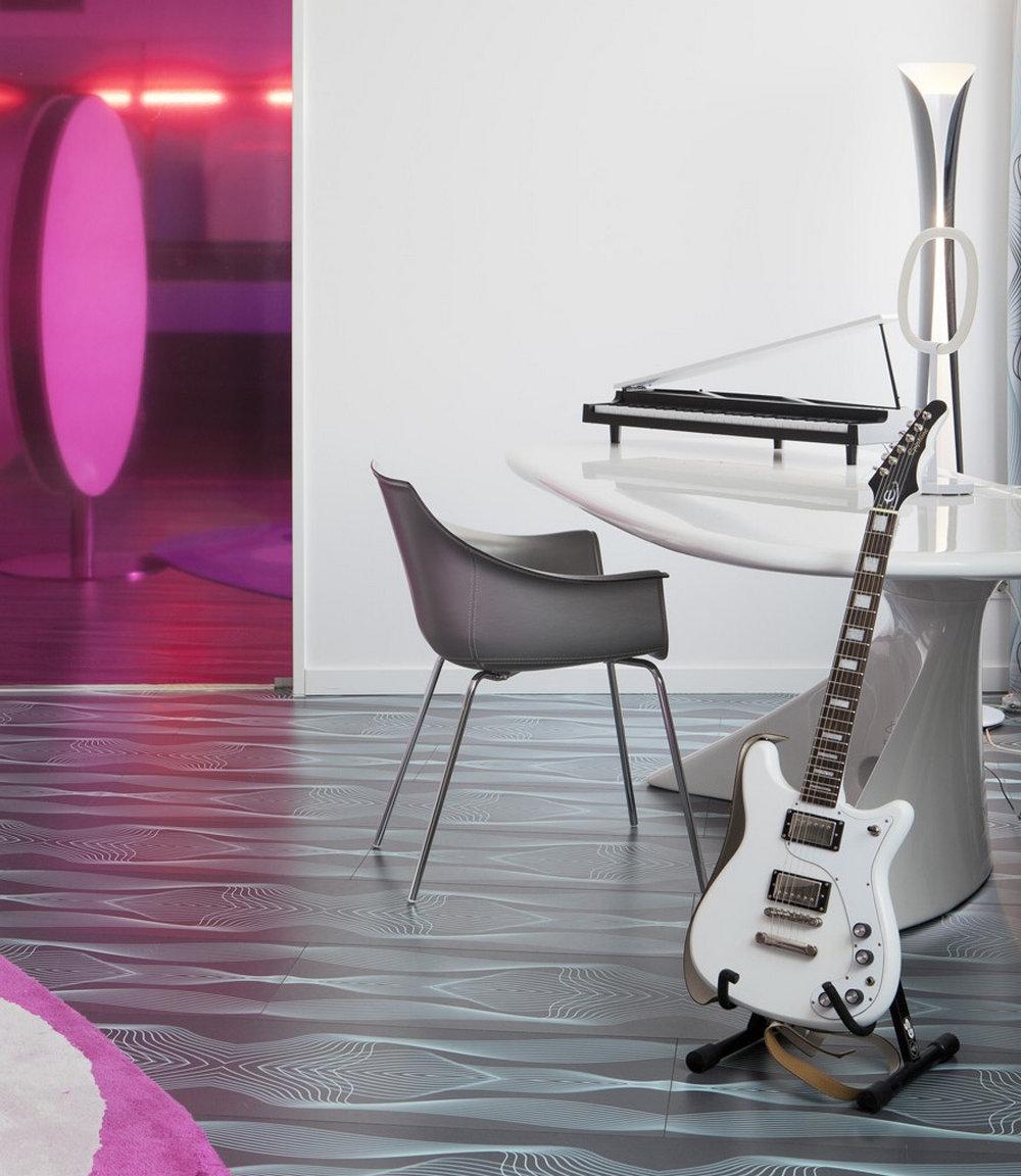 enterijer hotela inpirisan muzikom