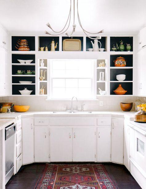 otvorene kuhinjske police