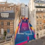 Tehnikolor košarkaško igralište novi je ukras Pariza
