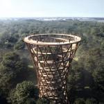 Šetnja iznad krošanja: Opservacijski toranj usred danske šume