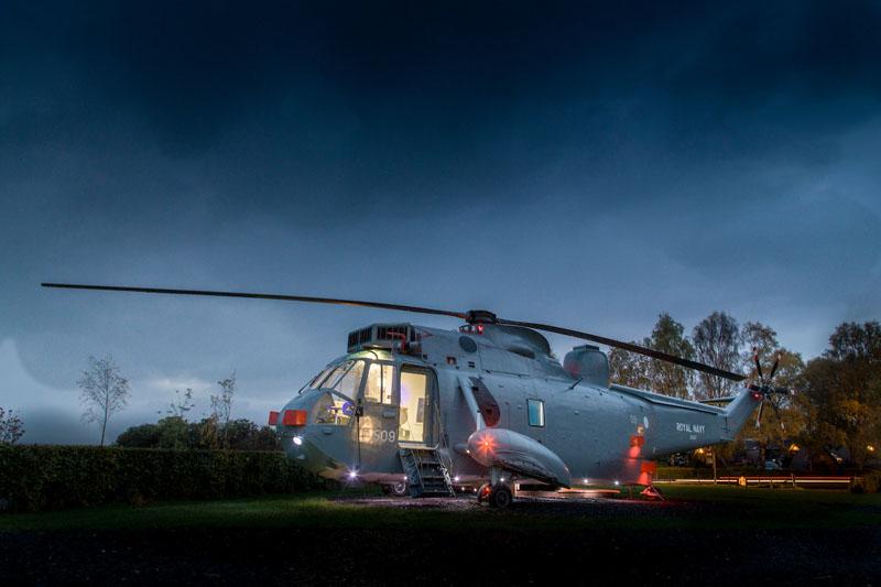 helikopter glamping
