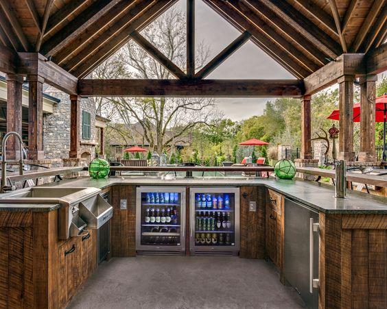 luksuzne vanjske kuhinje