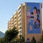 Počela izrada murala: Barcelona, Sarajevo je uz tebe
