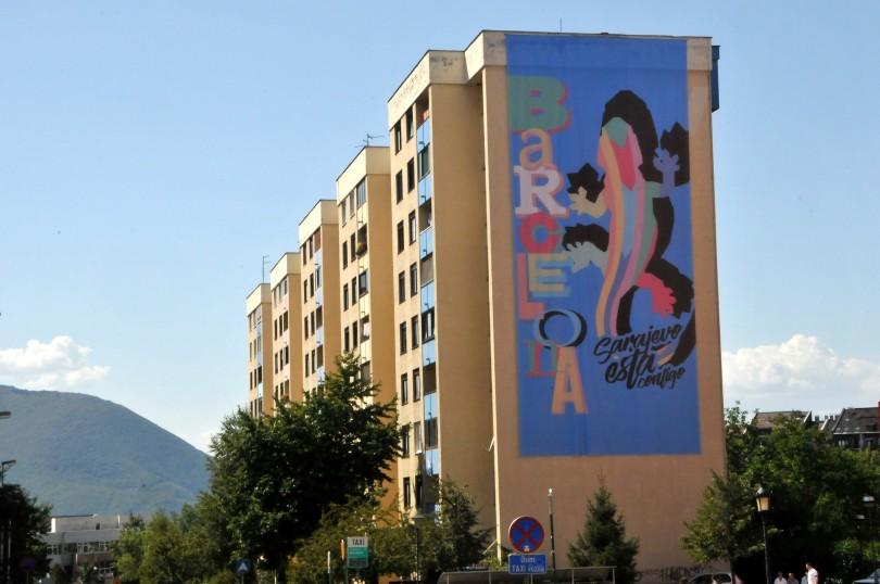 U glavnom gradu BiH počela izrada murala: Barcelona, Sarajevo je uz tebe
