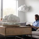 Lebdeća lampa u obliku oblaka izgleda magično