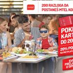 Prelaskom u m:tel Open dobijate do 200 KM na Addiko Visa poklon kartici